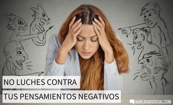 aceptar pensamientos negativos